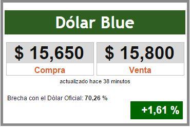 brecha dolar blue con oficial