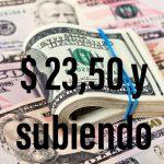 Nuevo récord: el dólar se vende a más de $ 23,50