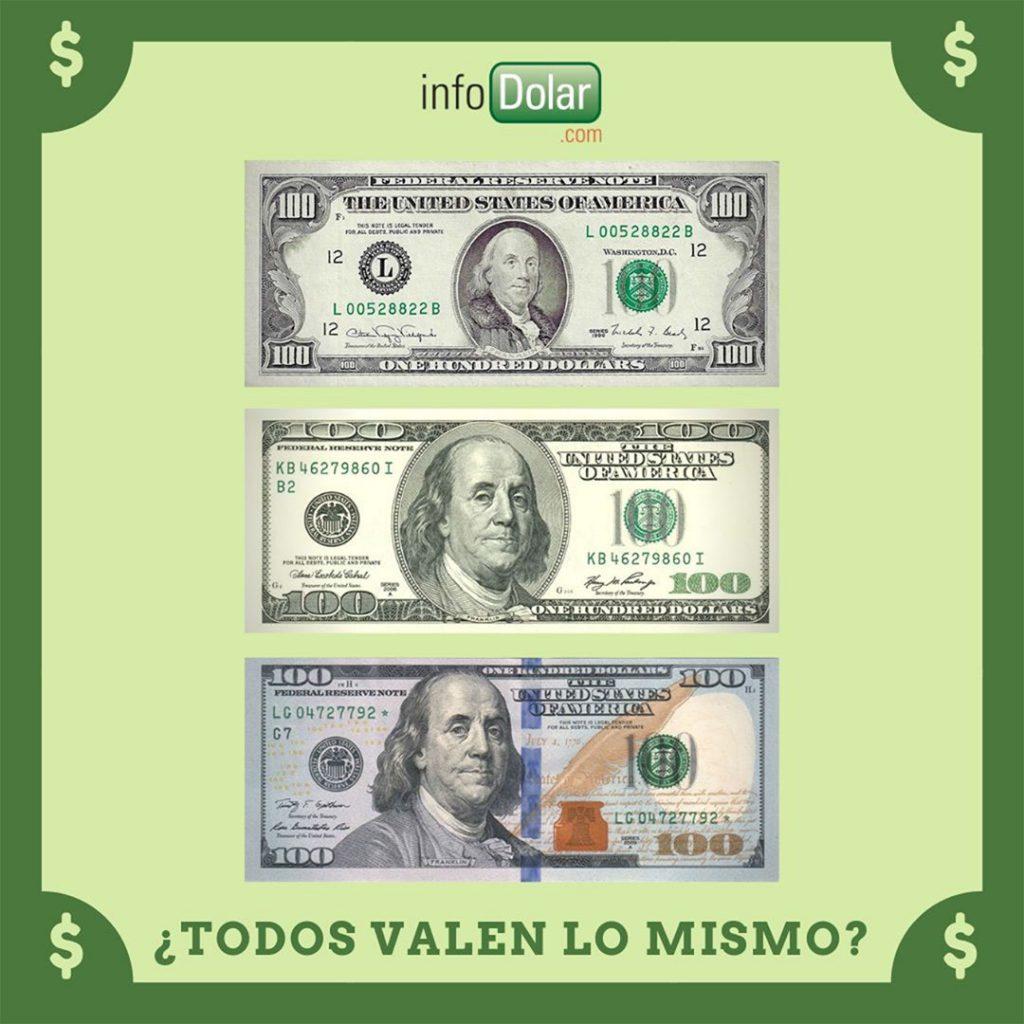 billetes viejos de 100 dólares
