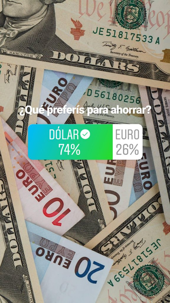 encuesta Instagram Dólar vs Euro