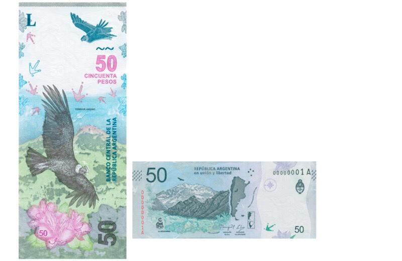 Frente y contra frente de billete de $ 50