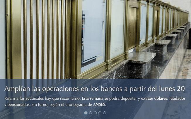 Extracción dólares en bancos cuarentena