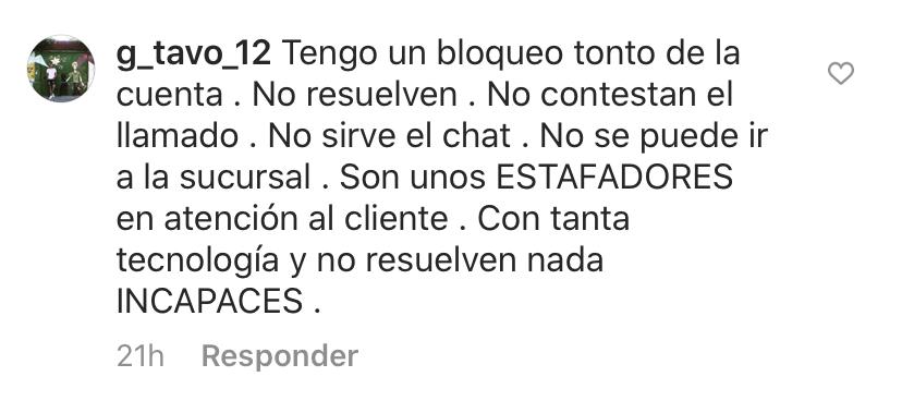 Instagram BBVA cierre cuenta dólares